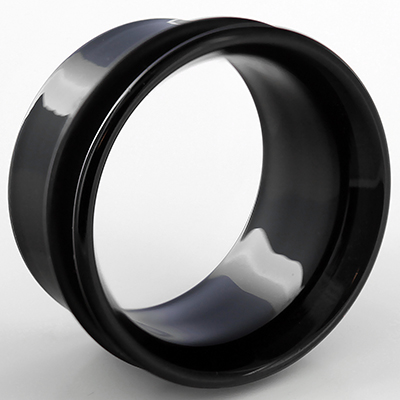 Single Flare Pyrex Glass Eyelets (Black)