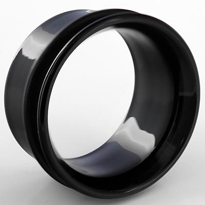 Single flare pyrex glass eyelets (Black)