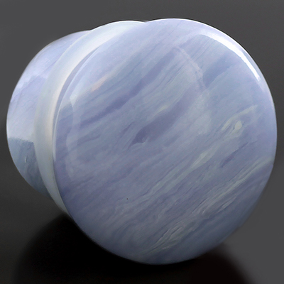 Single Flare Synthetic Blue Lace Agate Plug