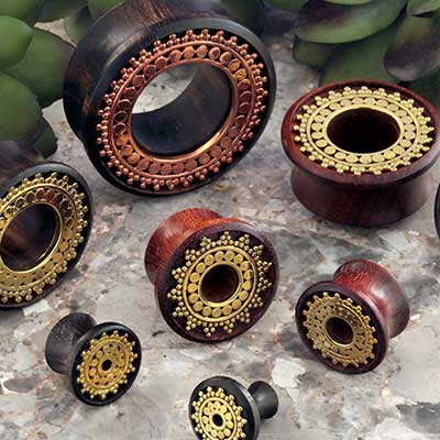 Wood and Metal Afghan Plugs