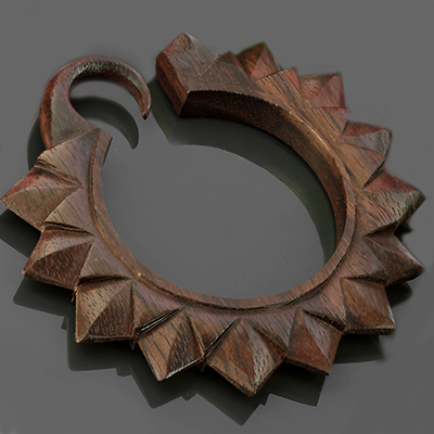 Ebony wood Ultra Sunflower hoops