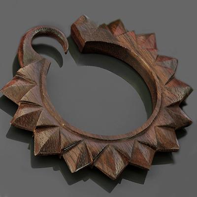 Ebony Wood Ultra Sunflower Hoops