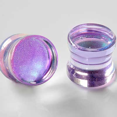 Deluxe dichroic plugs (Lavender gold)