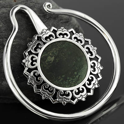 Sterling silver Eye of the Lotus with kambaba jasper