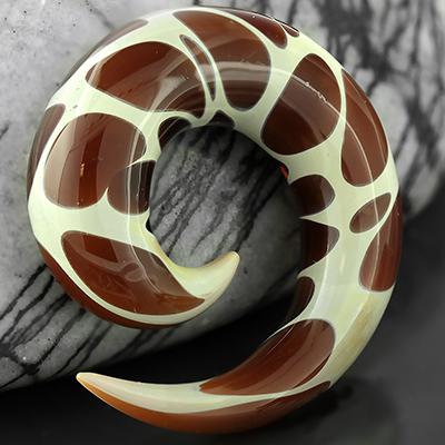 Pyrex Glass Spirals (Giraffe Print)