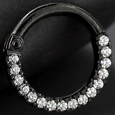 Black-coated titanium eternity clicker