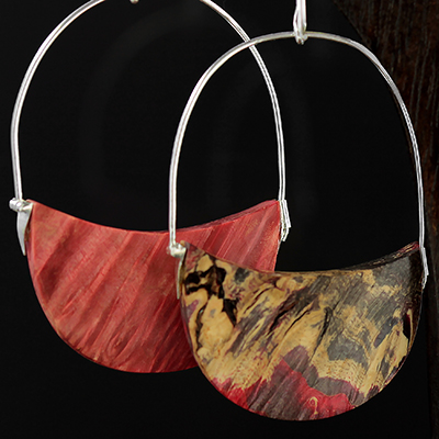 Marble Colored Wood Half Dome Hoops
