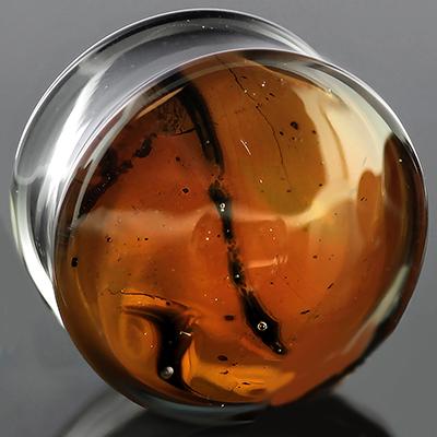 Pyrex glass Gaia plugs (Desert)