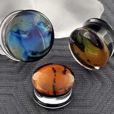 PRE-ORDER Double Flare Glass Gaia Plugs