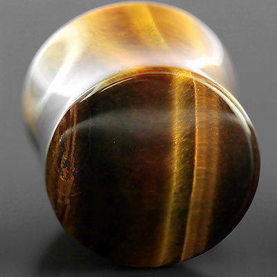 Yellow Tiger Eye Stone Plugs