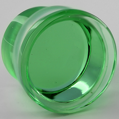 Single Flare Solid Color Plugs (Bright Green)