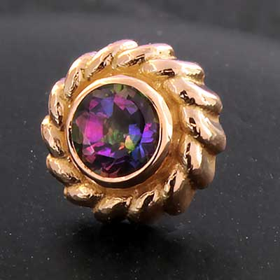 PRE-ORDER 18k Gold Purity End With Genuine Stones
