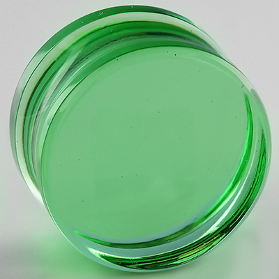 Glass Solid Color Plugs (Bright Green)
