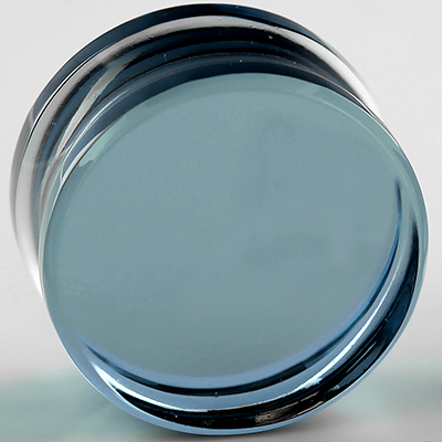 Glass Solid Color Plugs (Indigo)