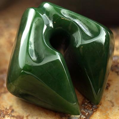 Zoomorphic nephrite jade weights