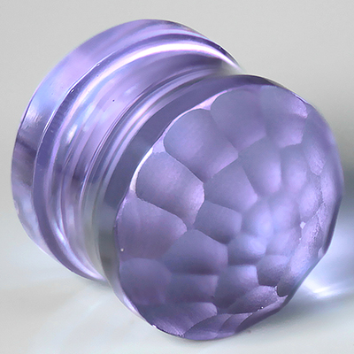 Glass Solid Color Martele Plugs (Lavender)