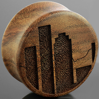 Chechen Wood City Skyline Plugs