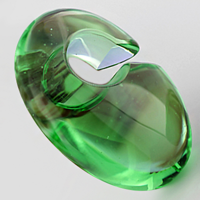 Solid Color Ovoid Weights (Bright Green)