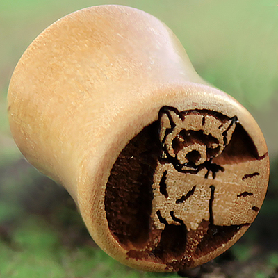 Pear Wood Ferret Plugs