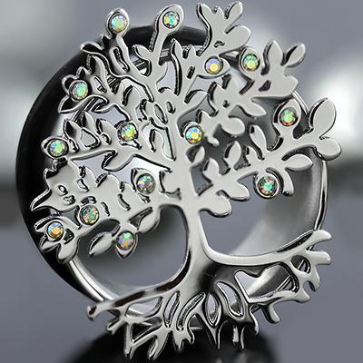 Single Flare Jeweled Tree Eyelet