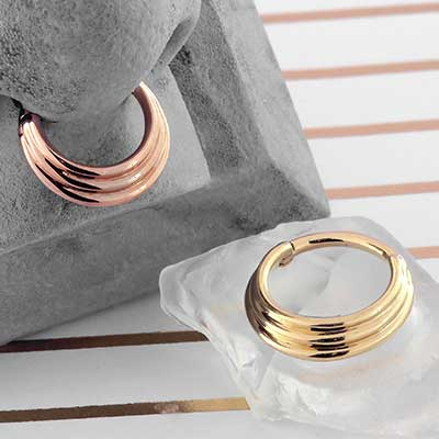 14k Gold Hiranya Clicker Ring