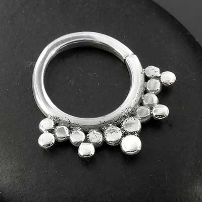 Sterling Silver Burst Seamless Septum Ring