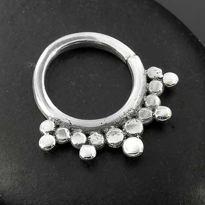 Sterling silver burst seamless septum ring
