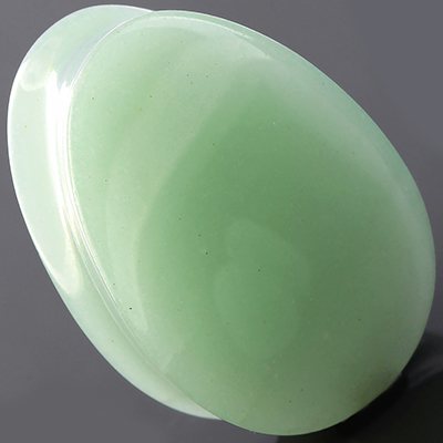 Green aventurine teardrop plugs