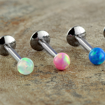 Internally Threaded Opal Ball Labret