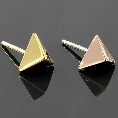 Tetra Pyramid Stud Earrings