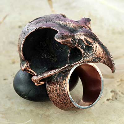 Copper Prey for me ring (Size 7)
