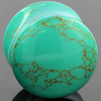 Synthetic Turquoise Stone Plug