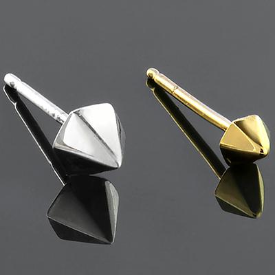 Hex Pyramid Stud Earrings