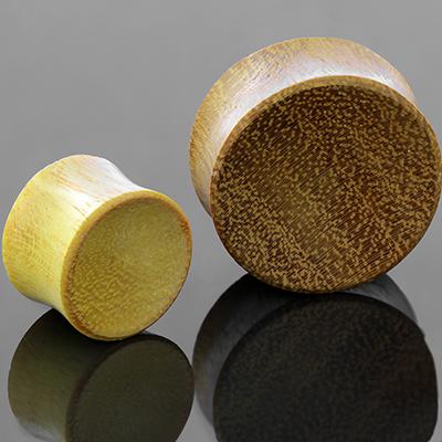 Jackfruit wood concave plugs