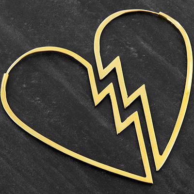 Broken heart hoops