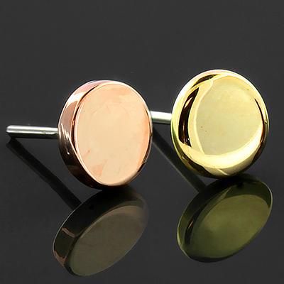 14k Gold Disc Threadless End