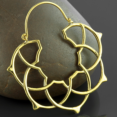 Solid Brass Sacred Hoops