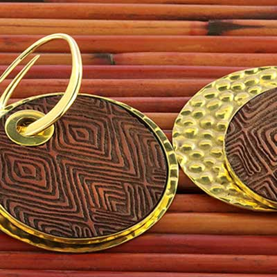 Solid Brass and Engraved Wood Dangle Weights