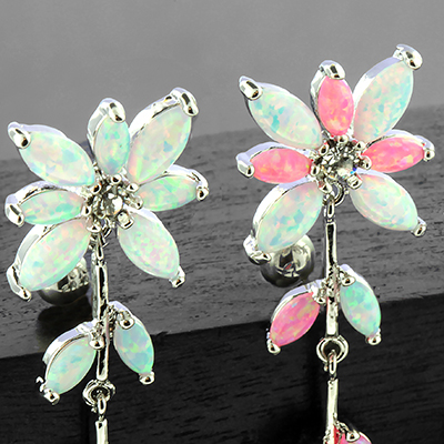 Opal flower top down navel