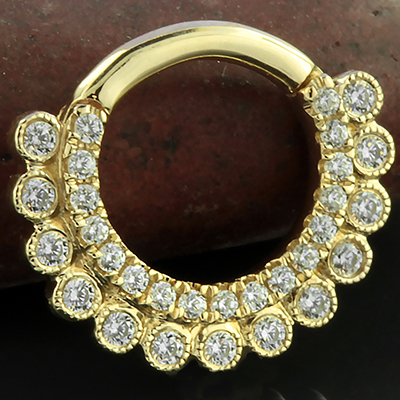 14k Gold Apsara Clicker Ring