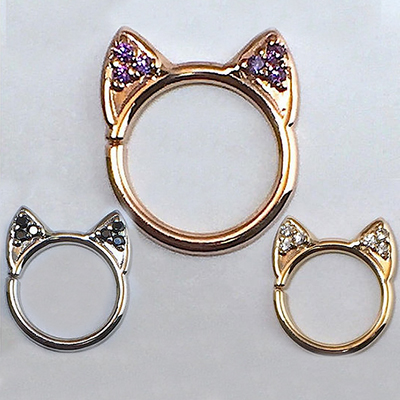 PRE-ORDER 14k Gold Meow Seamless Ring
