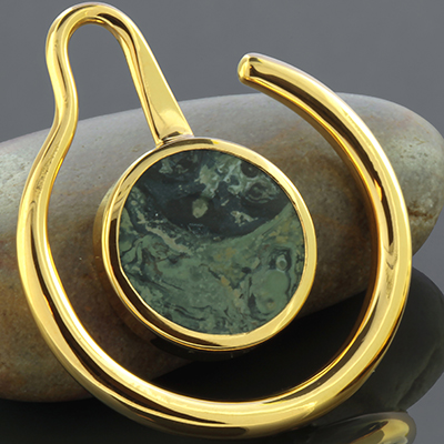 22K gold plated Eye of the Beholder with kambaba jasper