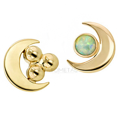 PRE-ORDER 18k Gold Cluster Moon End