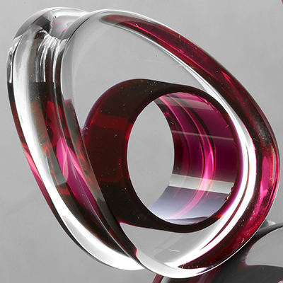 Glass Lifesaver Teardrop Plugs (Magenta)