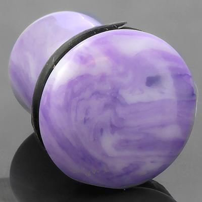 Single flare violet agate plug