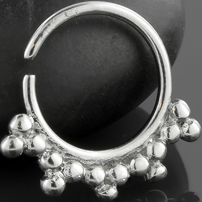 Silver Sunburst Septum Ring