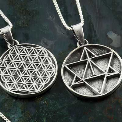Silver Sacred Geometry Necklace