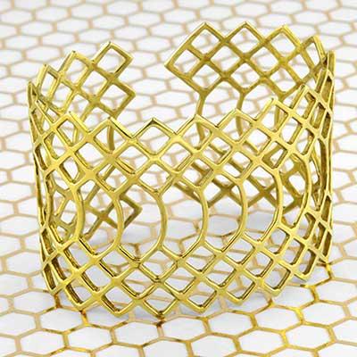 Brass Snakeskin cuff