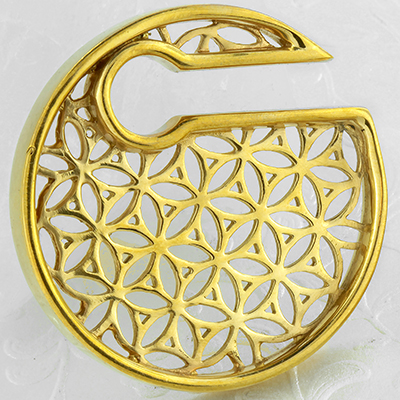 Solid Brass Flower of Life Disc Weights