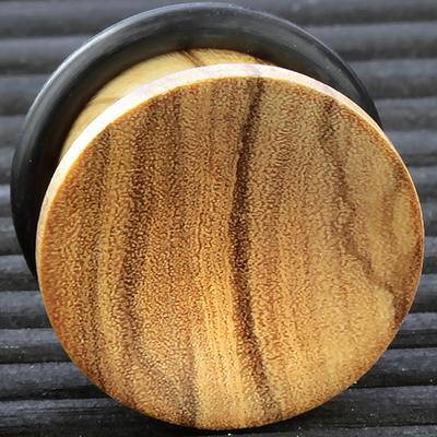 Single flare olivewood plug